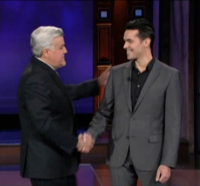 Michael Carbonaro and Jay Leno